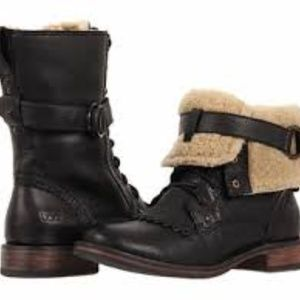UGG Jena black military motorcycle boots 8.5